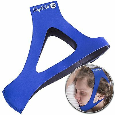 EasySleep Pro Adjustable Stop Snoring Chin Strap Blue