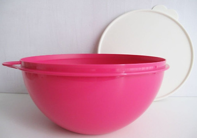 Tupperware Thatsa Bowl for Mixing, Serving, Storage, Punch Bowl 19 Cups Pink New