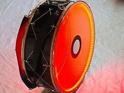 "RON::  22"" TURKISH  PERCUSSION    DRUM DAVUL w/ METAL CLIPS and RED LIGHT !!!!!!"