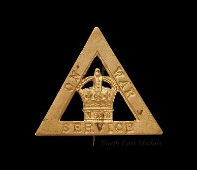 Great War 1916 On War Service Lapel Badge