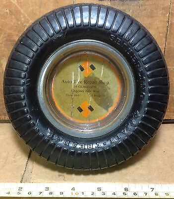 Vintage Seiberling Tire Advertising Ashtray Chippewa Falls, WI