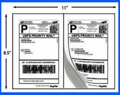 Self-Adhesive Shipping Labels A4 (2 Labels/Page 8.5x5.5) Round Edge