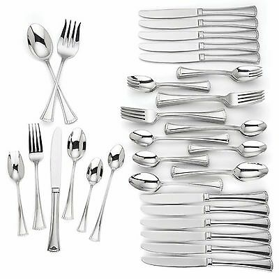 Lenox Colonial 74 Piece Flatware Set Service For 12 Stainless Steel 18/10 NEW