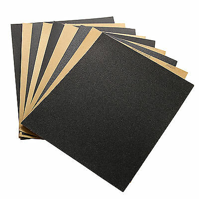 "9""x11"" Wet and Dry Sandpaper 4Pcs ,60-2000 Grit High Precision Polishing Sanding"