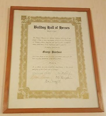Wallace Wally Butts College Football HOF signed Georgia Bulldogs Document D.1973