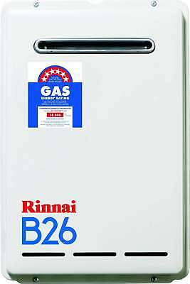 Rinnai Builders LPG Gas 26L Instantaneous Hot Water Unit B26L50 B26