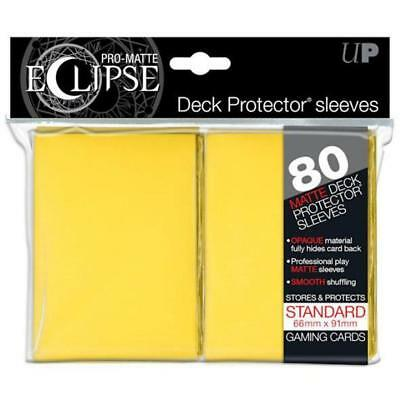 ULTRA PRO DECK PROTECTORS STANDARD -80ct Pro-Matte 66 x 91 mm Eclipse Yellow