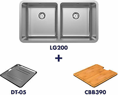 Abey LG200 Double Bowl Inset Sink Pack LG200