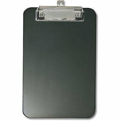 OfficemateOIC Memo Size Plastic Clipboard with Low Profile Clip, Black (83002)