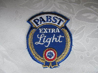 PABST Blue Ribbon Extra Light Beer Sew On Jacket Trucker Patch Crest B