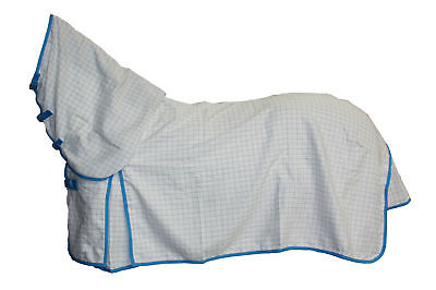 Axiom Polycotton Blue Ripstop Unlined Horse Combo Rug 5'6