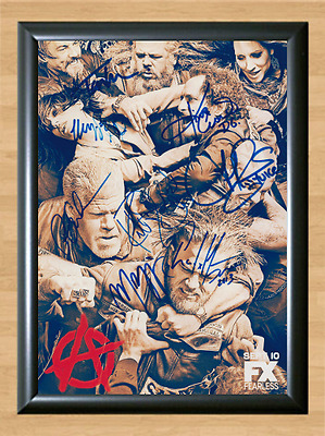 Sons of Anarchy Cast x12 Signed Autographed A4 Print Photo Poster Memorabilia 2