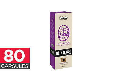80-Pack Grinders Caffitaly Capsules - Arabica (8 x 10 Pack)