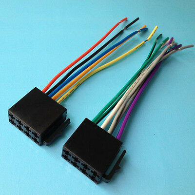 Auto Car Stereo Radio ISO Wiring Harness Female Connector Adaptor Cable Kit