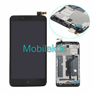 Black LCD Display Screen Touch Digitizer Assembly W/Frame For ZTE Zmax Pro Z981
