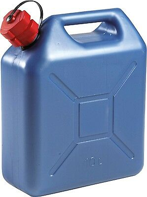 10 Litre Blue Petrol Can With built in pouring Hose . Jerry can Slim