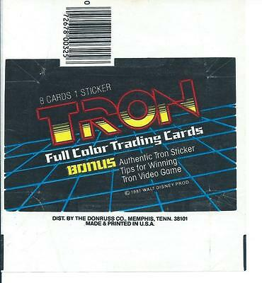 Tron Trading Card Wax Wrapper Vintage Donruss 1981