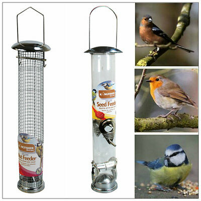 Large Deluxe Hanging Garden SEED AND NUT Bird Feeder Stainless Steel Feeders UK