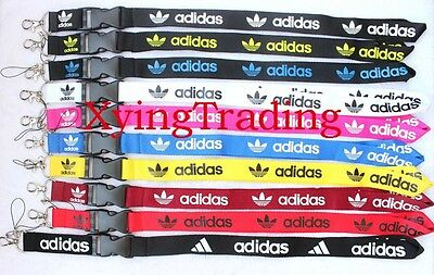 NEW AD Clothing brand Logo Lanyard Detachable Keychain ID straps 10 colors pick
