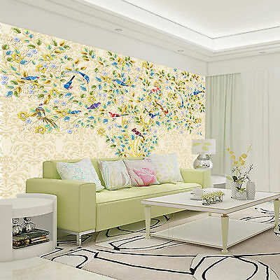 3D Colored leaves vines Wall Paper Print Decal Wall Deco Indoor wall Mural