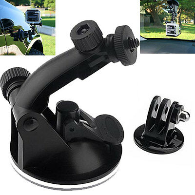 Windscreen Suction Cup Mount with Thread Tripod For GoPro HD Hero 5/4/3+ 3/2/1