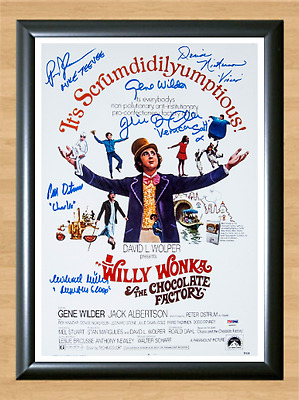 Willy Wonka And The Chocolate Factory Signed Autographed A4 Photo Print Poster