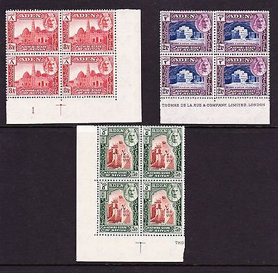 Aden Seiyun 1942 Complete Set In Blocks Of Four Sg 1-11 Mnh.