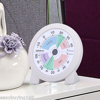 "4"" Indoor Hygrometer Thermometer Temperature Meter Humidity medir Monitor Termóm"