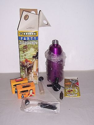 DDR Heimsprudler Sahnesyphon Party Autosyphon OVP Lehel Made in Hungary !