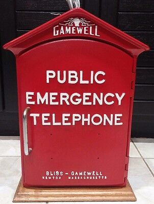 Rare Antique Vintage Gamewell Public Emergency Telephone Callbox | Restored