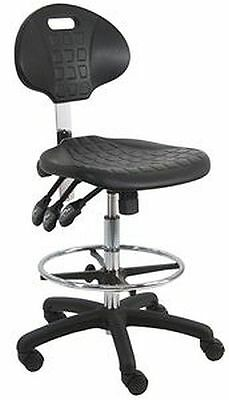 BenchPro LNT-UC-3L Deluxe Polyurethane HD Cleanroom Lab Chair Workbench Stool