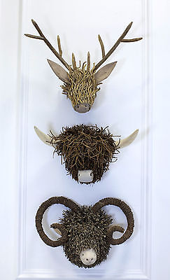Voyage Maison Wooden Animal Sculpture Wall Mounts - Various Styles Available
