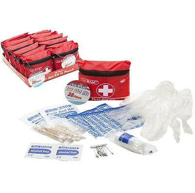 38pc First Aid Kit Accident Emergency Plaster Bandage Office Home Health Care