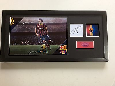 Xavi Hernandez Barcelona FC Hand Signed Professionally Mounted Frame