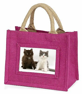 Two Cute Kittens Little Girls Small Pink Shopping Bag Christmas Gift, AC-121BMP