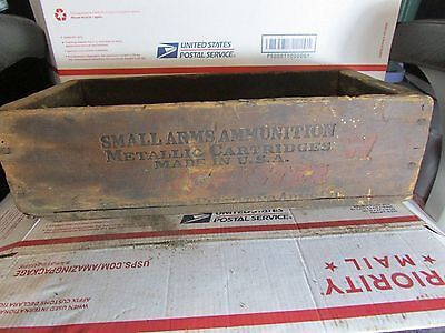 Vintage Winchester Repeating Small Arms Wooden Ammo Ammunition Crate Box