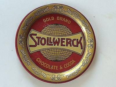 Stollwerck Gold Brand Chocolate & Cocoa Tip Tray, 5 inches across