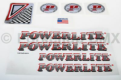 POWERLITE or PEDDLEPOWER Frame or Fork Decals 4 different /& 3 colors One Pair