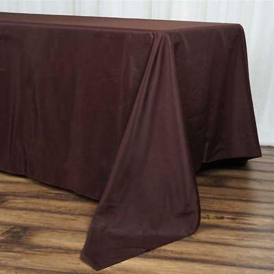 """10 Pk Chocolate 72x120""""  Polyester Rectangle Seamless Tablecloth Wedding Party"""
