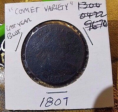 1807 Draped Bust Large Cent Last Year