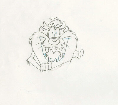 90s WARNER BROS Taz CARTOON NETWORK Commercial Drawing Animation Cel