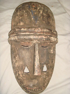 Old African Carved Wood Zaire Large Mask