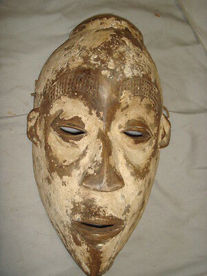Old African Carved Wood Ngbaka Tribe Congo Mask