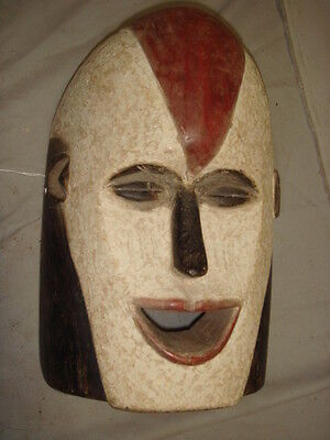 Old African Carved Wood Pained Large Mask