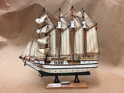 "Antique Wooden Spanish Ship Elcano 9.5"" X 9.5"""