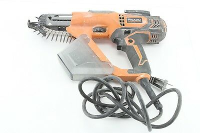 "Ridgid R6791 1""- 3"" Fastener Corded Drywall & Deck Collated Screwdriver Tested"