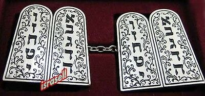 10 COMMANDMENTS TALLIT CLIPS - Judaica Tallis - Jewish Prayer Shawl - Gift