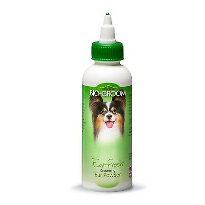 Bio-Groom Ear Fresh Dog Grooming Powder Pet Reduces Odor Funnel Tip Dispenser
