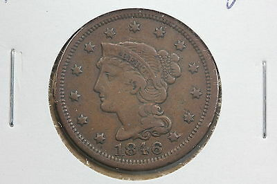1846 Large Cent F Small Date