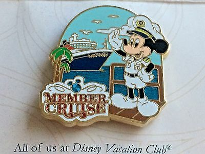 Disney Cruise Line Captain Mickey Mouse Pin Wdw Member Vacation Club Ship New